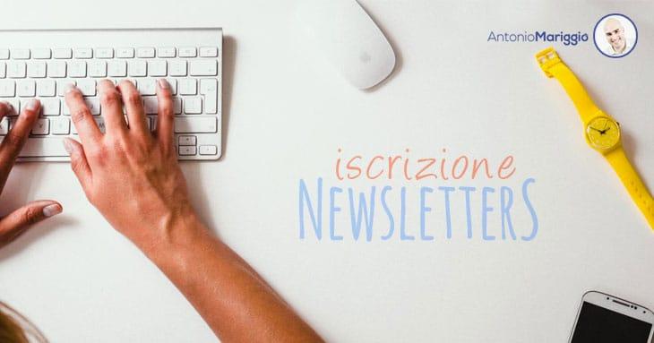 Iscrizione Newsletter - Antonio Mariggiò