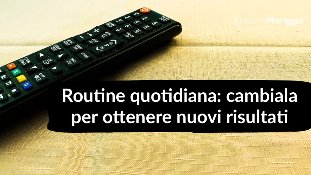 routine quotidiana